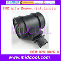 New Mass Air Flow Sensor use OE No. 0281002618 , 0281002683 , 55183651 , 55350048 , 11140004 for Alfa Romeo Fiat Lancia