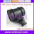 Nuevo Sensor de Flujo de Masa de Aire uso OE No. 0281002618, 0281002683, 55183651, 55350048, 11140004 para Alfa Romeo Fiat Lancia