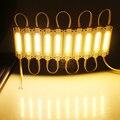 20 pçs/lote NOVA COB levou módulo de injeção 12 V com lente IP67 À Prova D' Água LEVOU Módulo de iluminação Sinal Levou Backlights Para Letras de canal