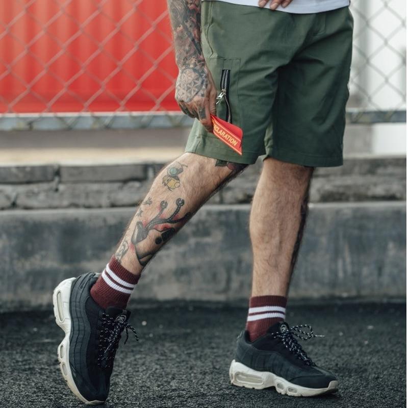 Mens Shorts 2018 Summer Casual Loose Short Pants Side Pockets Male Cargo Camo Hip Hop Shorts W0046