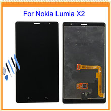 1Piece For Nokia Lumia X2 LCD Display with Touch Screen Digitizer LCD Assembly + Tools Free Shipping