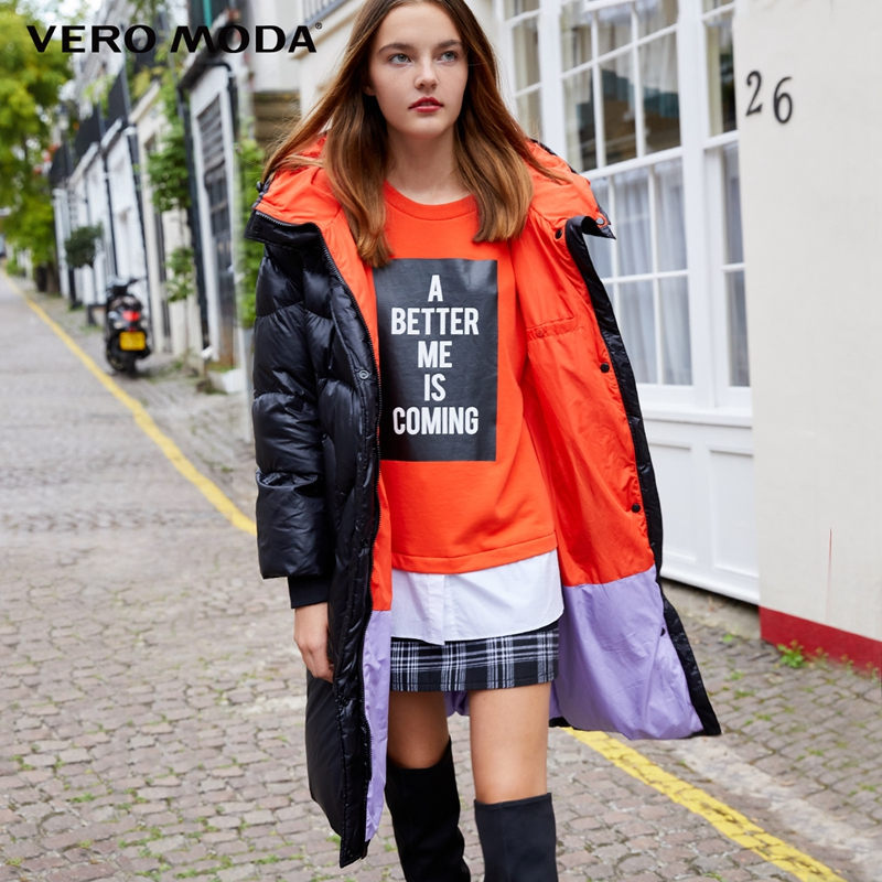 Vero Moda 2019 New Hooded White Duck Down Oversize Padded Long Down Jacket Women | 318412512