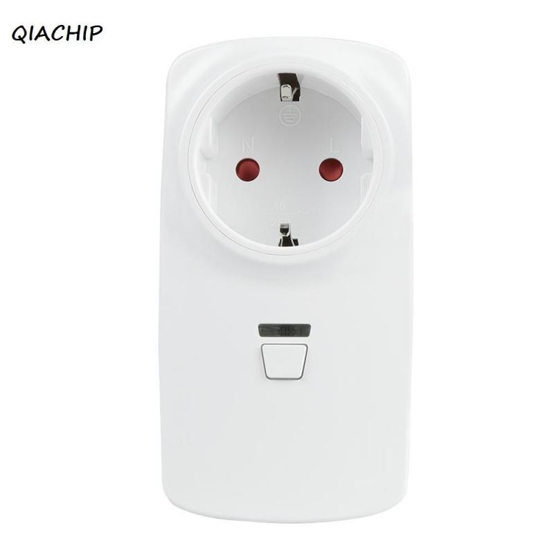 QIACHIP AC 220V WiFi Smart Plug Smart Home Socket Work with Amazon Alexa Google Home App Remote Control Light switch EU Plug Z4 2pcs koogeek smart wifi socket eu power plug smart home plug wireless outlet app remote control for amazon alexa google home