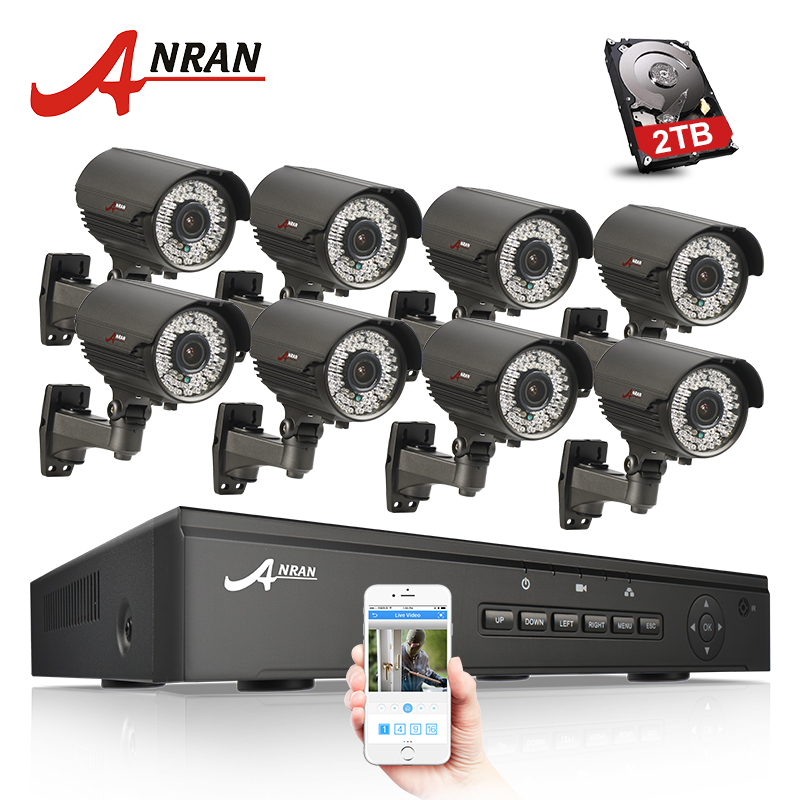 ANRAN P2P 1080P HD 8CH 48V POE NVR Onvif Varifocal 2.8mm-12mm CCTV Security System IP Camera POE Security Surveillance Kit 2014 sale 4ch onvif full hd 48v real poe 80 100m nvr kits with 720p varifocal 2 8 12mm lens ip cameras p2p cloud service