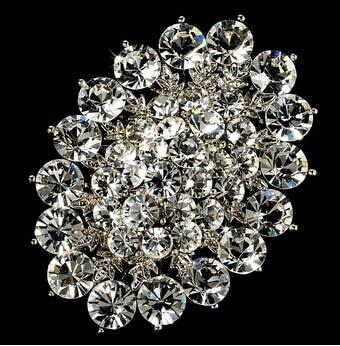 """3,7"""" большая бриллиантовая брошь, прозрачные стразы, винтажные вечерние булавки для букета - Окраска металла: Style J"""