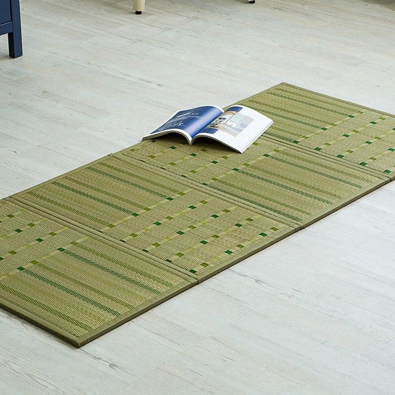 Tatami japonais tapis de sol pliant paille Rectangle 82*180 cm asiatique Design traditionnel Zen matelas tapis de couchage panneau tapis