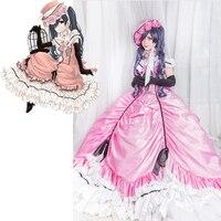 Black Butler Cosplay Costume Ciel Phantomhive Dress Off Shoulder Shothern Belle Ball Gown PINK