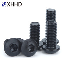 Hex Button Head Socket Cap Screw Metric Thread Round Head Allen Mushroom Hexagon Machine Bolt Black 10.9 Grade M2 M2.5 M3 M4 стоимость