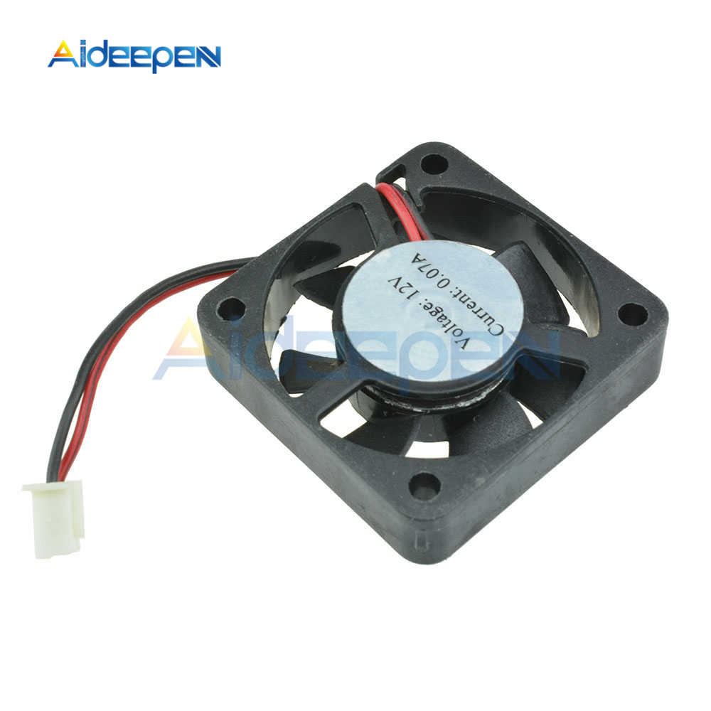 Funda de ordenador ventilador Axial PC CPU enfriador ventilador 12V 40x40x10mm para Arduino raspberry Pi ordenador 3D impresora CF