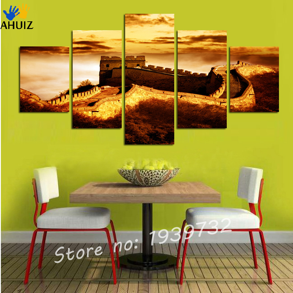 ▻Hot Sale 5pcs home decorative painting canvas painting the Great ...