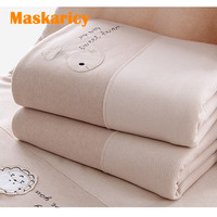 High quality 105*115cm baby blanket newborn quilt toddler child Organic cotton character towel Soft animal bedding linings