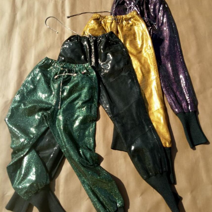 Black Pantalones Green Oveja dark Brillante Dropship Cintura Moda De dark Purple Genuino Lápiz golden Cuero Wj2836 Ocio Elástica Patente Mujer Pantalón YWqxnUZ