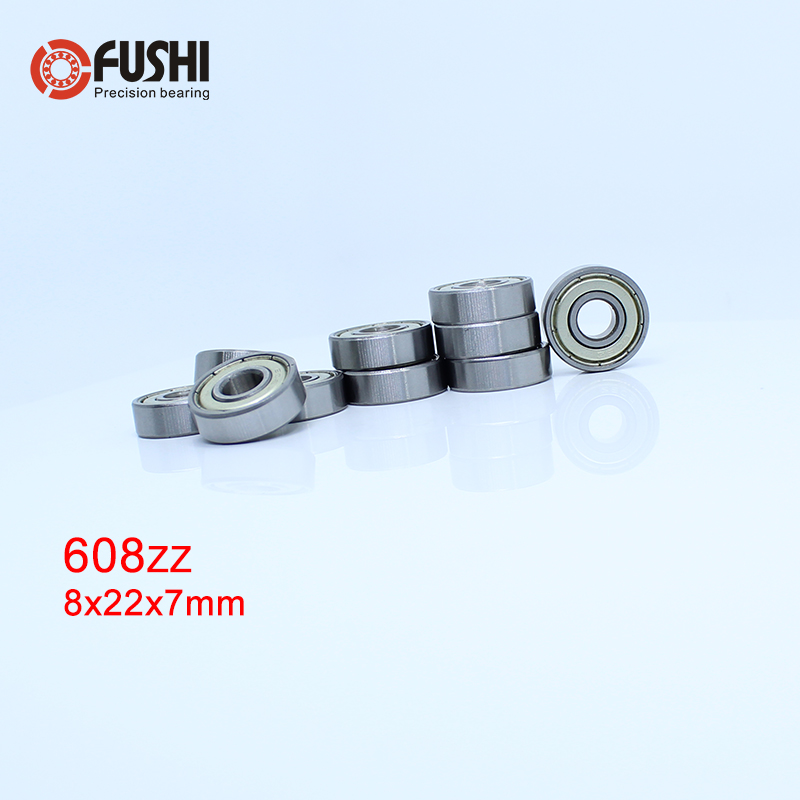 608ZZ Bearing ABEC-1 20PCS 8X22X7 mm Miniature 608 ZZ Longboard Skateboard Ball Bearings 608-2Z 608Z