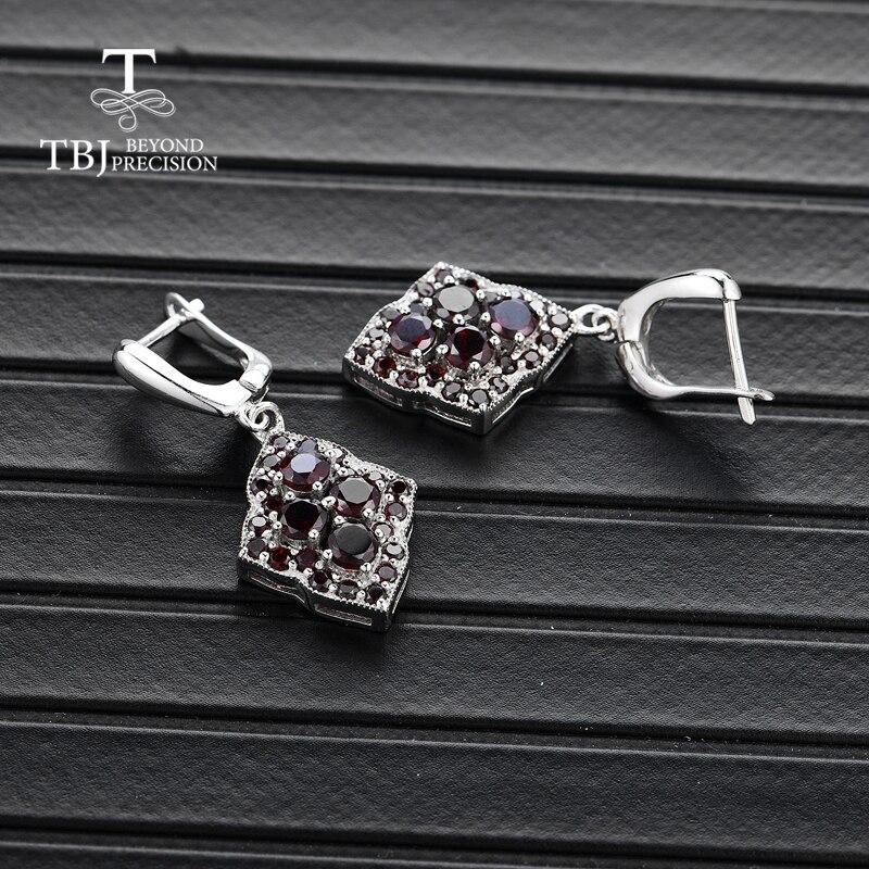 TBJ, unieke ontwerp stijl natuurlijke edelsteen granaat oorbellen 925 sterling zilveren fijne sieraden voor vrouw & meisje dagelijkse slijtage geschenken-in Oorbellen van Sieraden & accessoires op  Groep 3