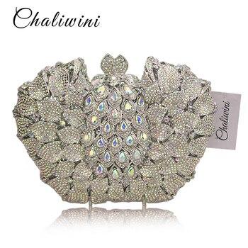 Big Stone HandBag Toiletny Designer Rewark metal Clutches Wedding With Chain Lady Party Purse beach Luxury Diamond Women bag