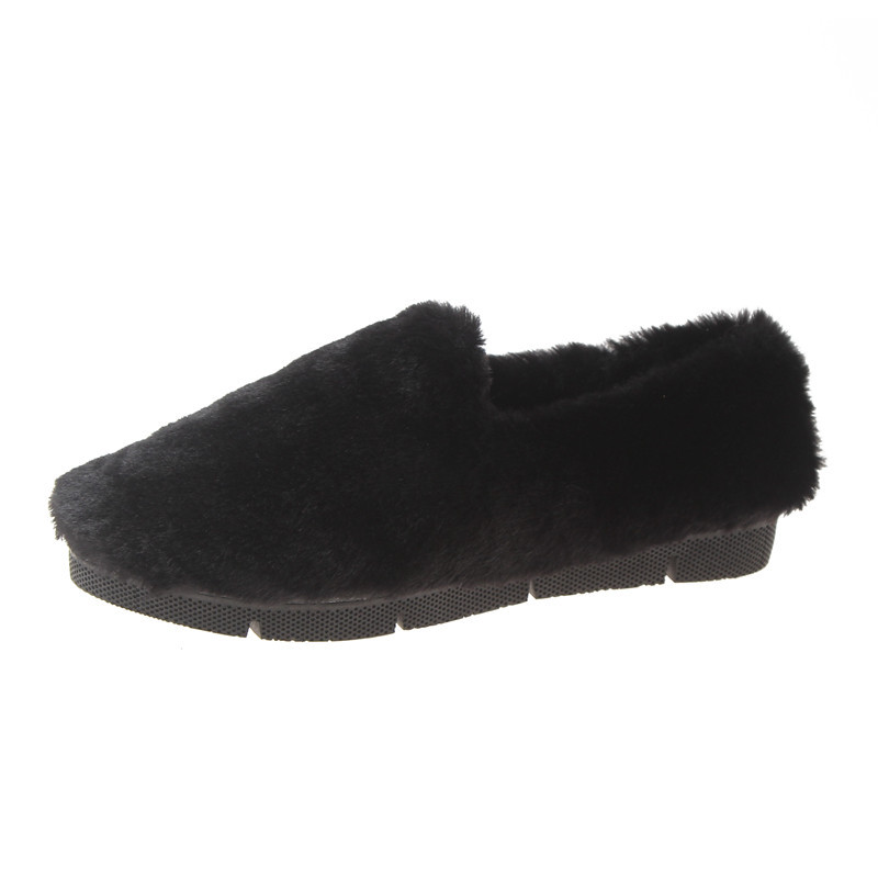 Image 3 - SWYIVY Fur Loafers Ladies Winter Warm Casual Shoe Slip Ons 2019 Ballerinas Shoes For Women Flat Shoes Loafer Women Shoe Flat-in Women's Flats from Shoes