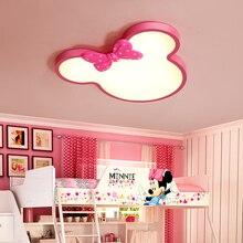 Потолочный Детский Светильник простая современная девушка личность креативный розовый прекрасный принцесса теплая комната лампа спальня потолочные светильники
