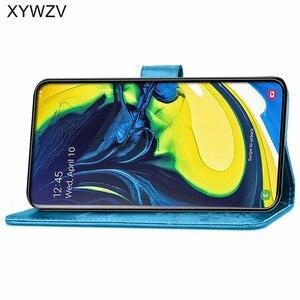 Image 3 - עבור סמסונג גלקסי A80 A90 מקרה רך סיליקון Filp ארנק עמיד הלם טלפון תיק Case כרטיס מחזיק Fundas סמסונג A80 a90 כיסוי
