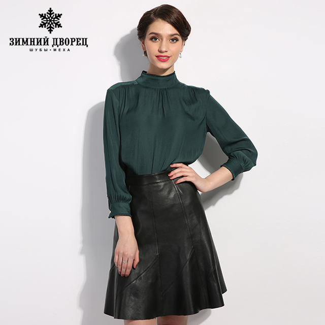 WINTER PALACE 2017 hitz korean fashion leather shorts female elastic waist leisure leather shorts women  shorts high waist