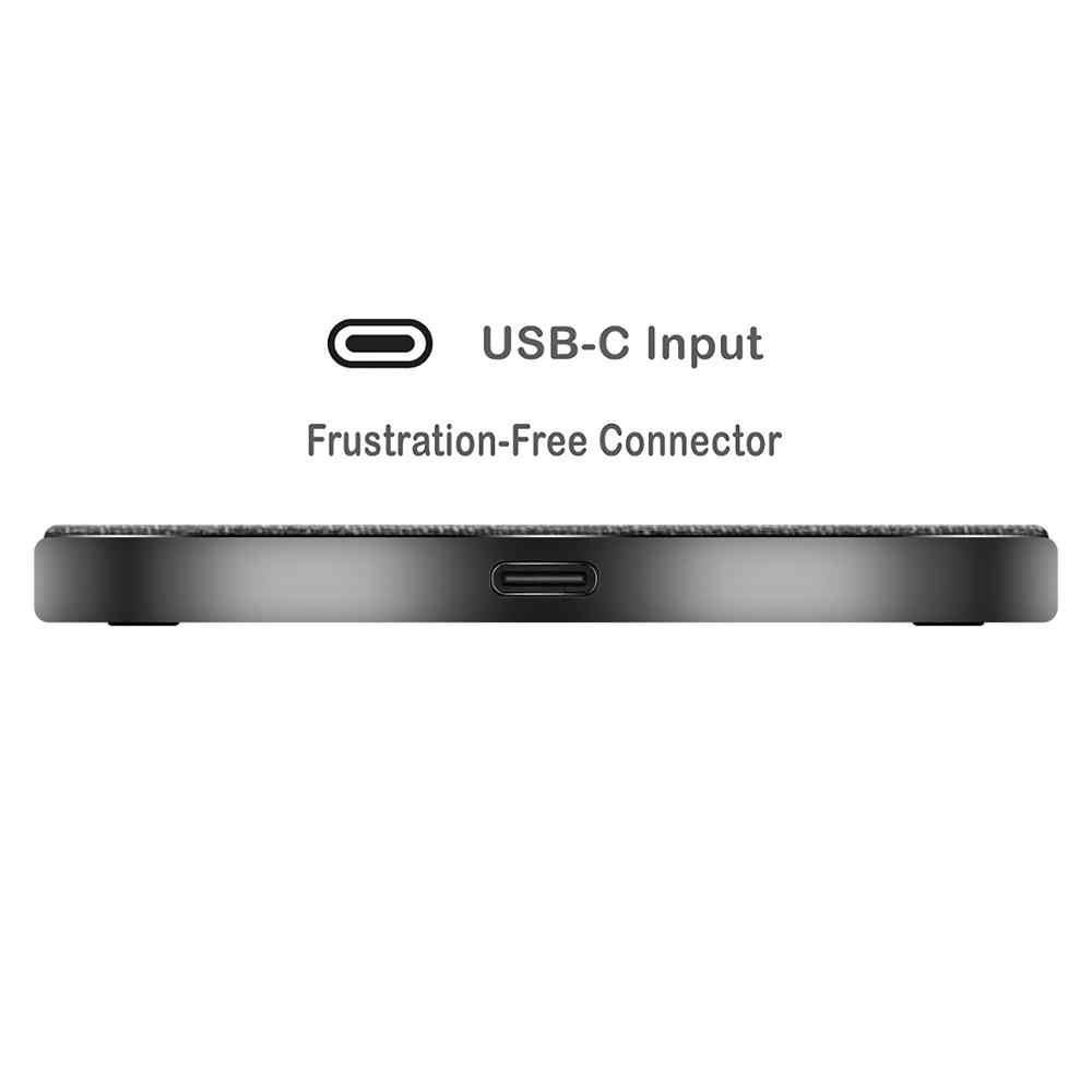 KUSDO 10 W Qi cargador inalámbrico para iPhone X/XS Max XR 8 Plus elemento Visible almohadilla de carga inalámbrica para Samsung S9 S10 + Nota 9 8