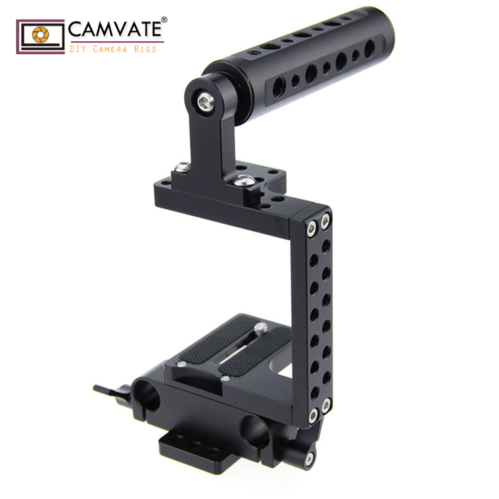 CAMVATE DSLR Camera Cage Steadicam Handheld Gimbal for BMCC Panassonic 4K Micro C0936 camera photography accessoriesCAMVATE DSLR Camera Cage Steadicam Handheld Gimbal for BMCC Panassonic 4K Micro C0936 camera photography accessories