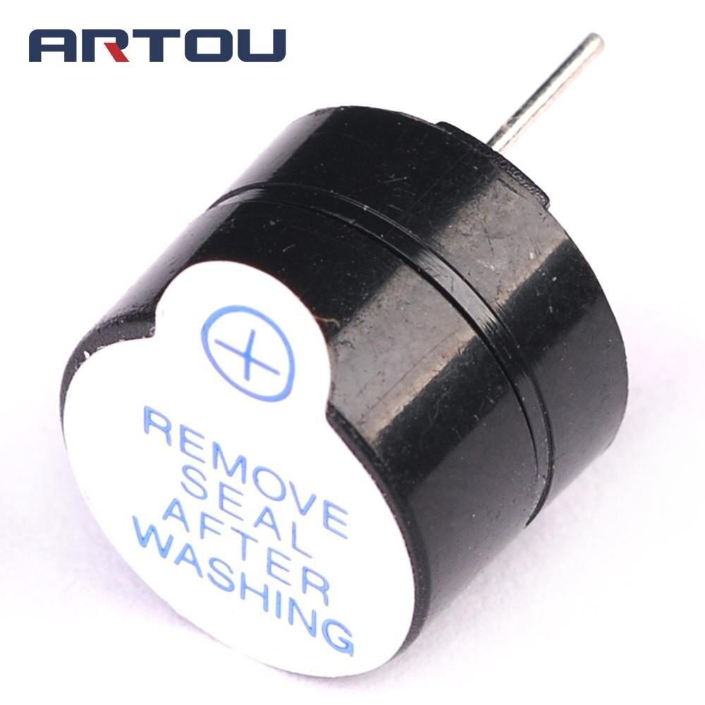 100 шт. активность зуммер 5 В 9.5*12 мм звуковой сигнализации Динамик Active Зуммер электронных Компоненты ...