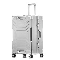 20''24''26''29''Large Capacity Aluminum Frame Suitcase Travel Trolley Luggage TSA Lock Koffer mala de viagem Spinner Casters