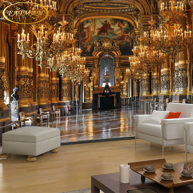 Bedroom Design Private Palace: Custom 3D Photo Wallpaper European Luxury Palace Wallpaper