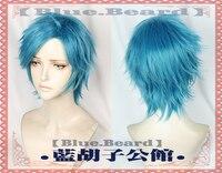 2018 Anime Yarichin Bitch Bu Club YUI TAMURA Blue Short Wig Cosplay Halloween