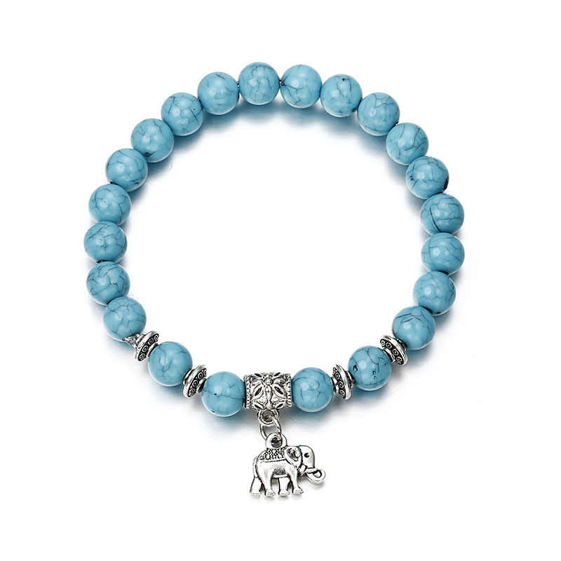 Volcanic stone  Bracelet Classic Acrylic Blue Beaded Bracelets for Men Women Best Friend Hot popular