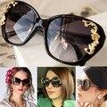 Novas Mulheres Da Moda óculos de Sol Óculos Ao Ar Livre Óculos de Leopardo de Ouro-tom óculos de Sol Óculos Vintage Estilo 18