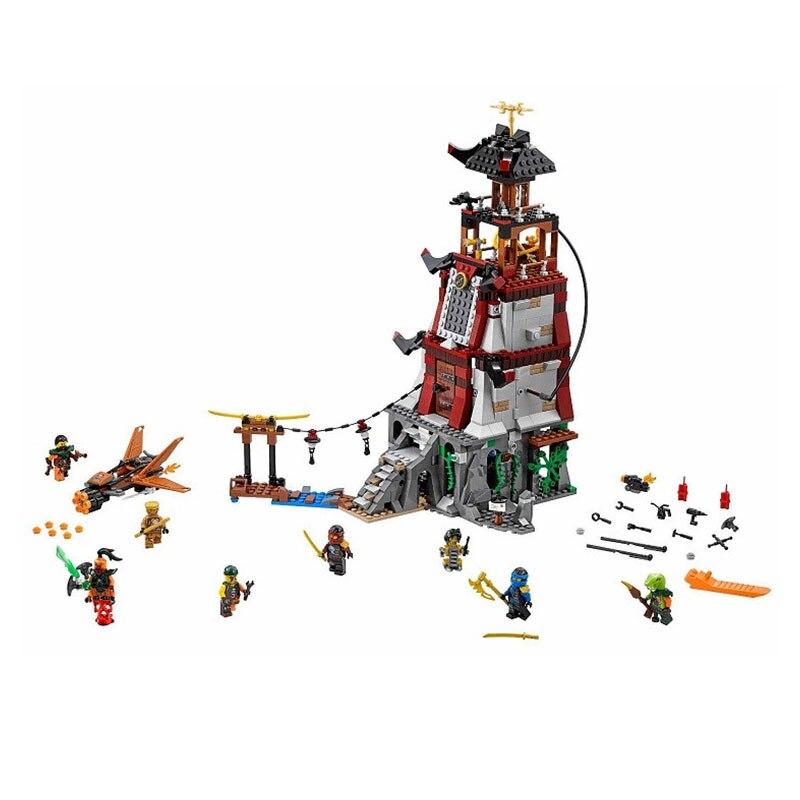 ФОТО 2016 New bricks 06037 850Pcs Ninj The Lighthouse Siege Model Building Kits Mini Blocks Brick Toys Compatible with 70594