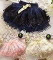 Дети юбки шнурка младенца юбки 2016 розовый торт пачки девушки юбки 1-4Y saia балетная пачка фантазия