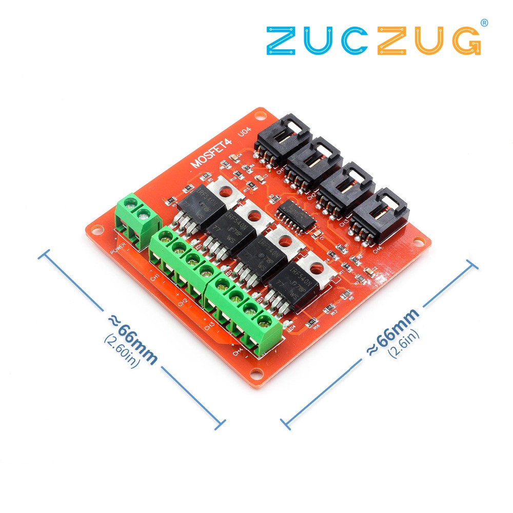 Four Channel 4 Way Route Mosfet Button Irf540 V40 Hv 317 Voltage Regulator Circuits Images Frompo Switch Module