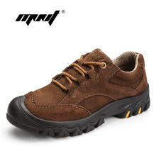 Купить с кэшбэком Natural Leather Designer Men Shoes Plus Size Outdoor Casual Shoes Sneakers Thick Bottom Waterproof  Non-slip Shoes Men