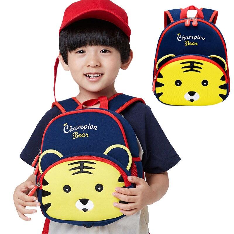 Kids Baby Bags Toddler Anti Lost Backpack Child Boy Girl Neoprene Cute Tiger Character Preschool Bag Infant Travel Infantry Pack nohoo tiger type neoprene backpacks