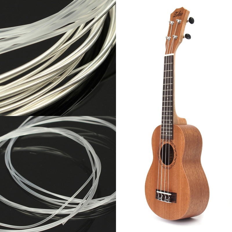 New 21 inch 15 Frets Mahogany Soprano Ukulele and 6pcs Nylon Strings 1m For Classical Guitar Professional Set Guitar Accessories classical guitar strings set cgn10 classic nylon silver plated normal tension 028 045 classical guitar strings 6strings set