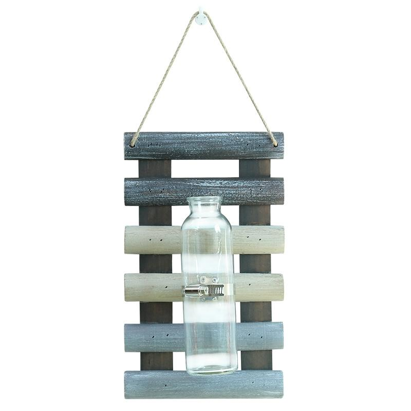 Us 12 15 24 Off Adeeing Creative Modern Wall Hanging Ladder Single Bottle Vase Flowerpot Container Home Decor In Vases From Garden On