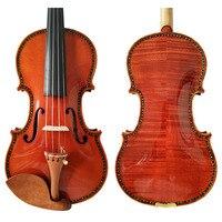 Free Shipping Copy Stradivarius 1715 100% Handmade Carving Flower FPVN02 Violin + Carbon Fiber Bow Foam Case