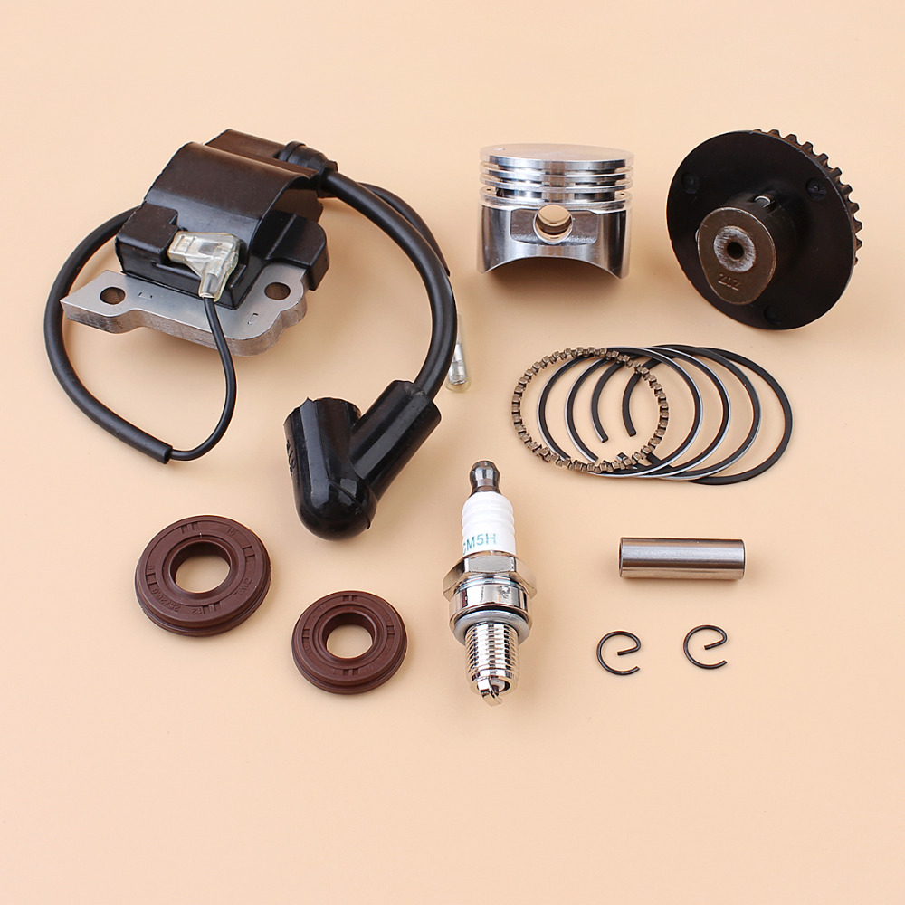 35mm Piston Rings Ignition Coil Camshaft Pulley Oil Seal Kit Fit HONDA GX25  25cc 4-Stroke Engine Mini Trimmer Brushcutter