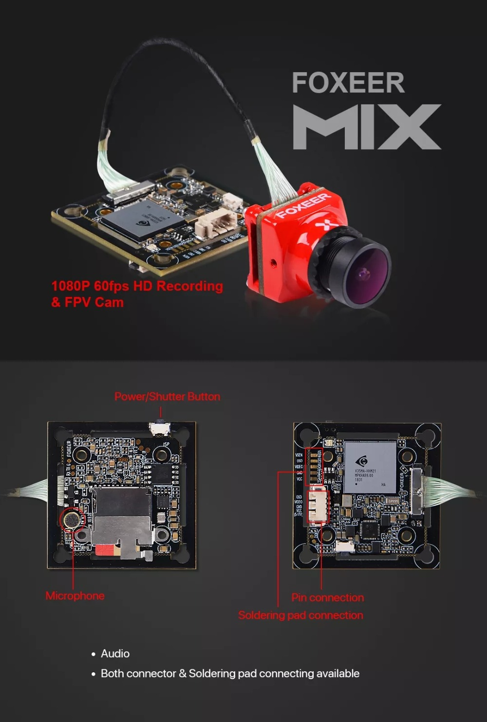 New style of 2019 Foxeer Mix 16:9/4:3 PAL/NTSC Switchable 1080p 60fps Super WDR Mini HD FPV Camera For RC Drone New style of 2019 Foxeer Mix 16:9/4:3 PAL/NTSC Switchable 1080p 60fps Super WDR Mini HD FPV Camera For RC Drone