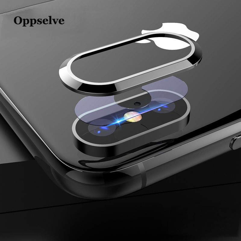 Ultra Tempered Glass+Metal Rear Lens Protective Ring For IPhone X Xs Max Xr 10 8 7 Plus Transparent Clear Camera Lens Glass Film