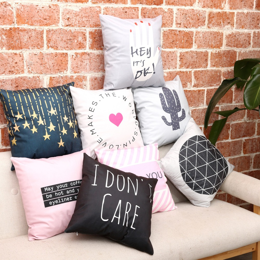 Aliexpress Com Buy Doule Side Print Pillow Cover Cushion