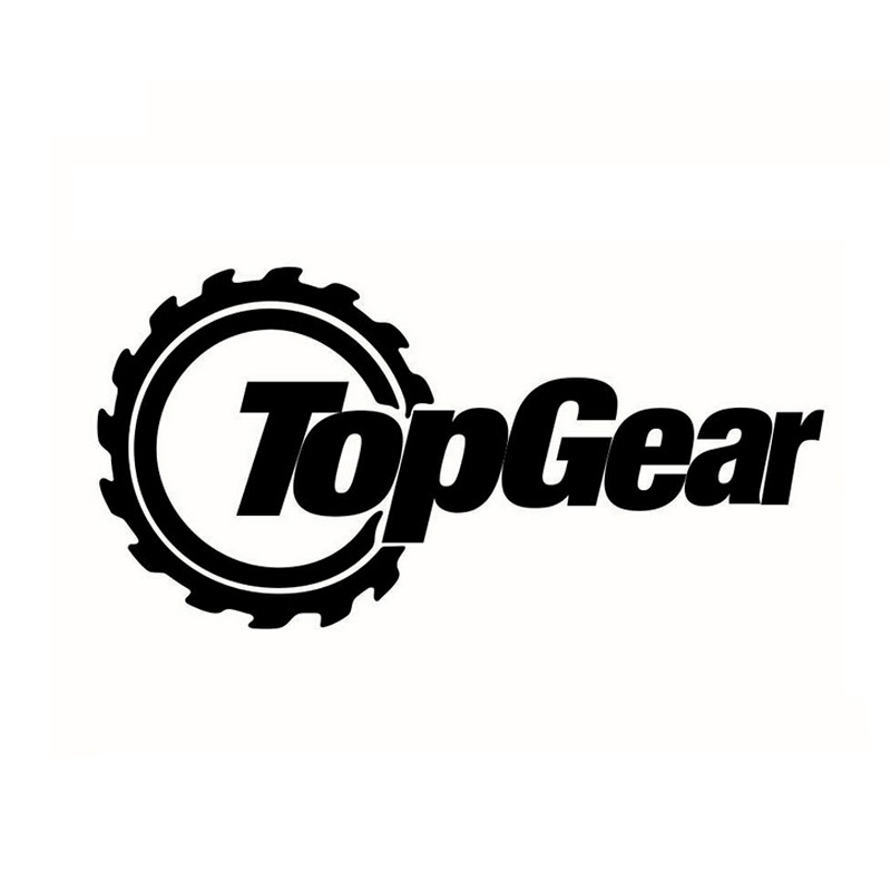 20*10CM TOPGEAR Funny Car Stickers Personalized Car Styling Accessories Sticker Decal Text Black/Silver CT-398