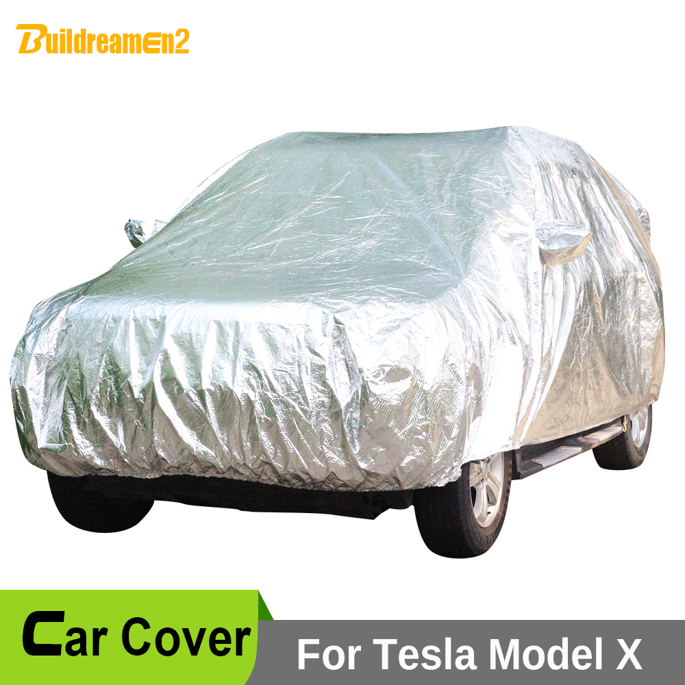 Buildreamen2 All Weather Car Cover Waterproof SUV Sun Shade Rain Hail Snow Scratch Dust Protection Covers For Tesla Model X buildreamen2 car cover waterproof suv anti uv sun shield snow hail rain dust protective cover for gmc terrain acadia envoy yukon