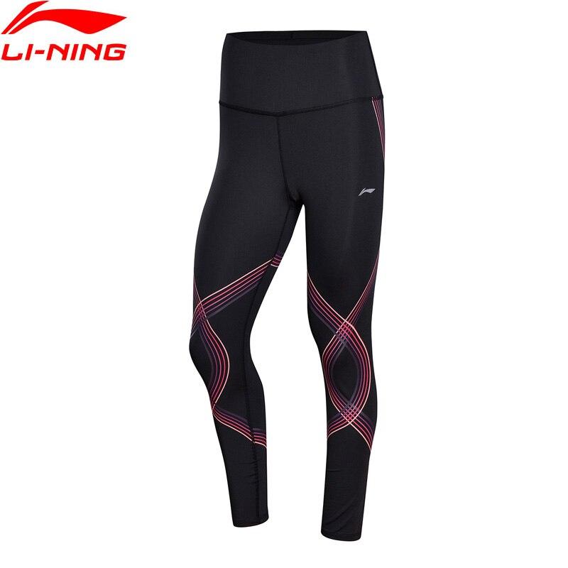 Li-Ning для женщин для выступлений базовый слой плотно прилегающий 73% полиэстер 27% спандекс дышащий комфорт iNing спортивные брюки AULN078 WKY175