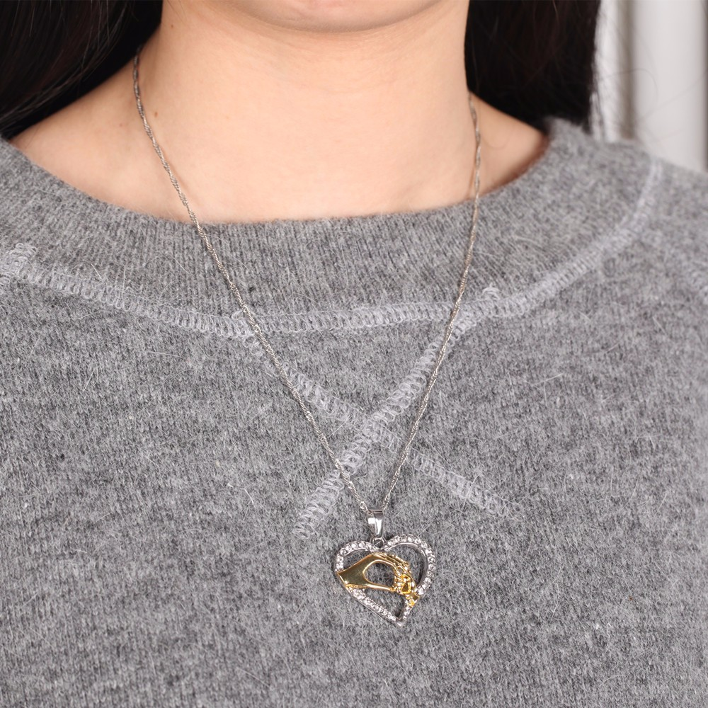 Mother Baby Infinity Heart Pendant