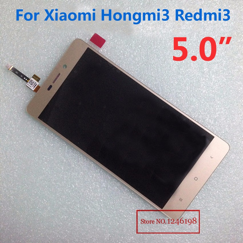 Wholesale RedRice3 LCD Display+Touch Screen Panel Digitizer Assembly For Xiaomi Redmi 3 Hongmi3 Phone Parts Black/White/Gold