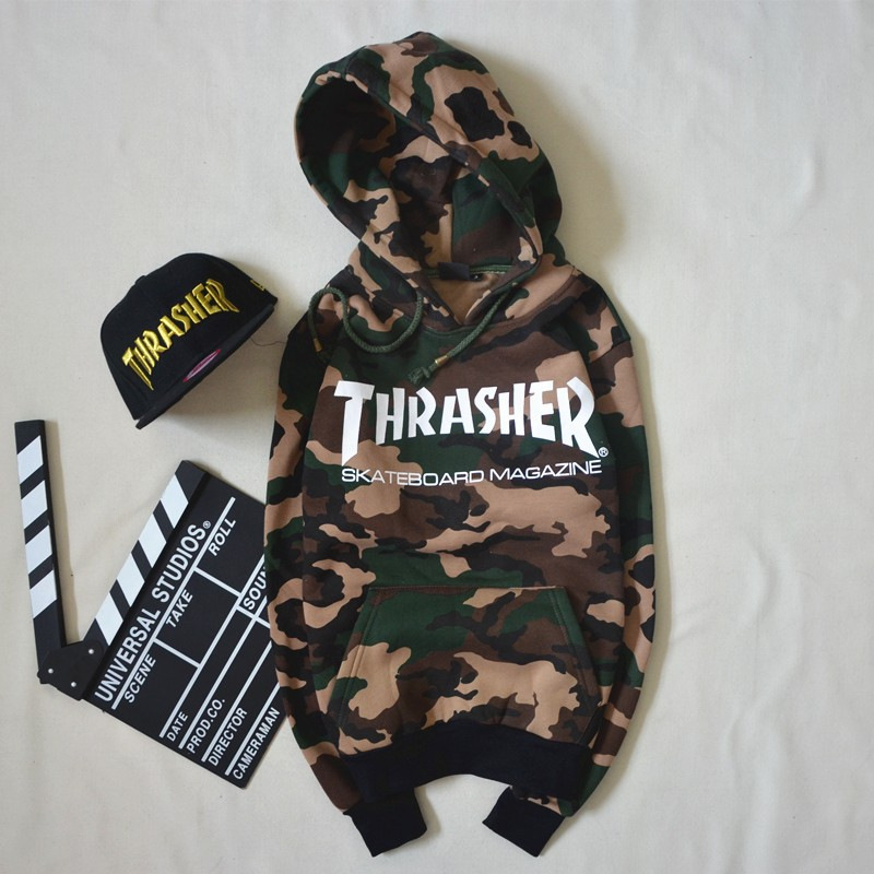 Online Shop Winter Autumn Men Women Thrasher Camouflage Hoodie Fleece High  Quality Sport Sweatshirt Skateboard Brand Pullover  16fe230445