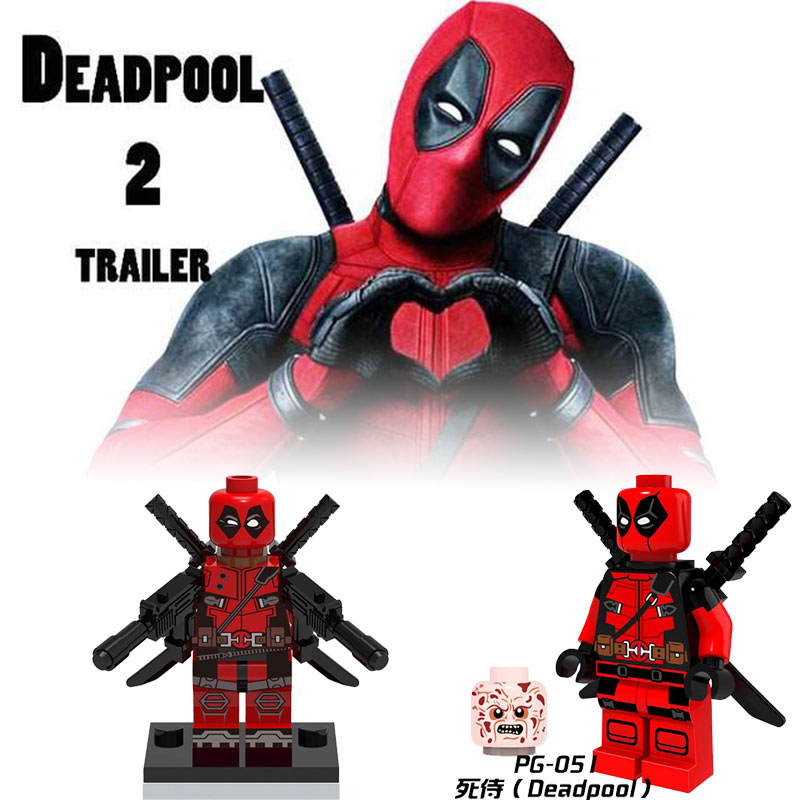 Duplo Deadpool Figures Superhero Batman Iron Man Superman Model Hero Compatible Legoings Toys for Children DIY Building Blocks(China)